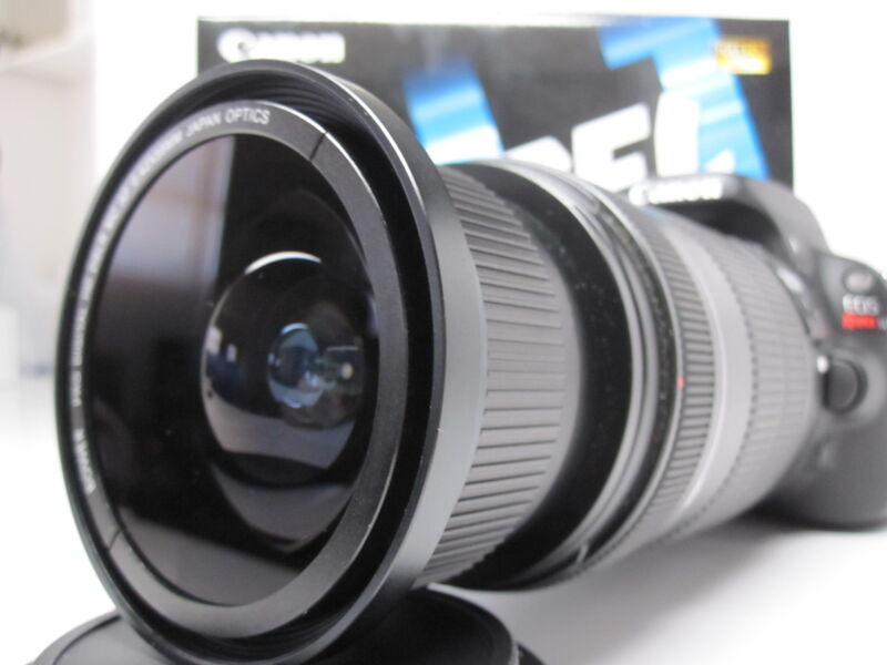Ultra Wide Angle Macro Fisheye Lens for Canon Eos Digital Rebel sl1 & 18-55 stm