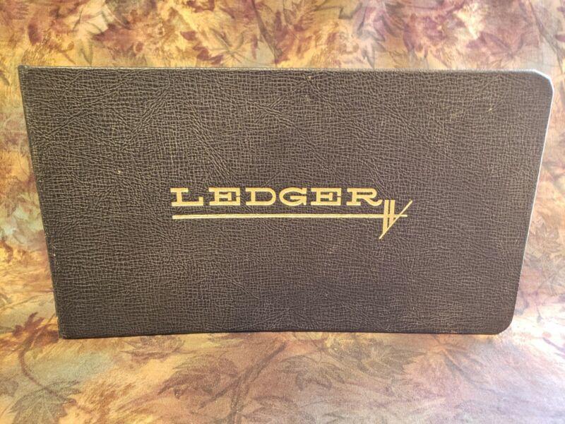 Vintage Standard Boorum & Pease No. 1000  Leatherette Cover Binder Ledger Tabbed