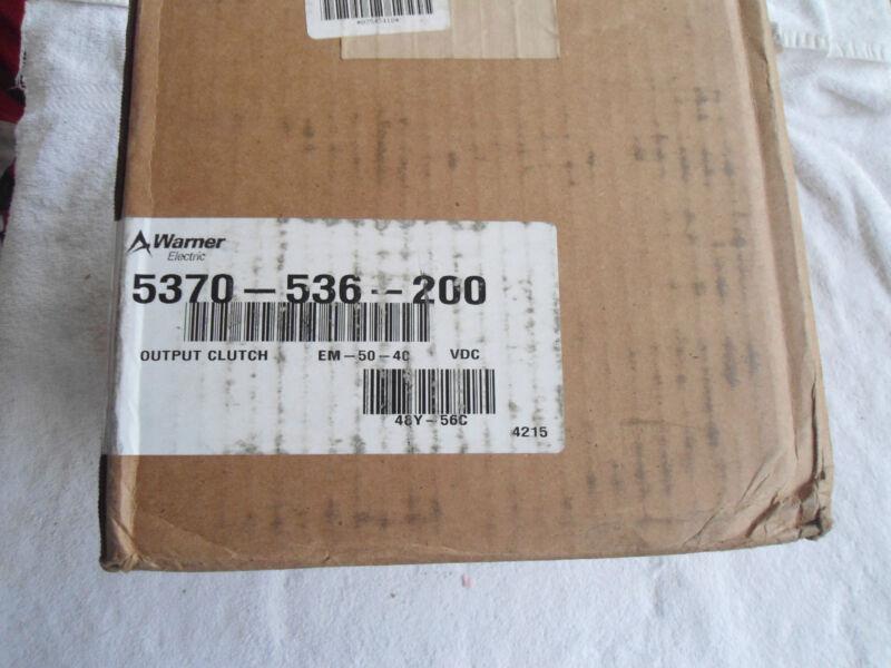 NIB Warner Electric Output Clutch    5370-536-200      EM-50-40 VDC
