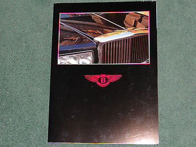 Bentley Eight Mulsanne Turbo R Continental  foldout brochure - 1984 - mint