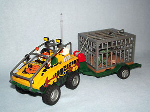playmobil 4175 v hicule amphibie et dinosaure dinosaur hunter set ebay. Black Bedroom Furniture Sets. Home Design Ideas