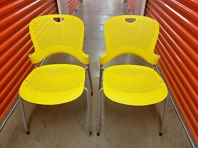 Pair Of Herman Miller Caper Stacking Chairs