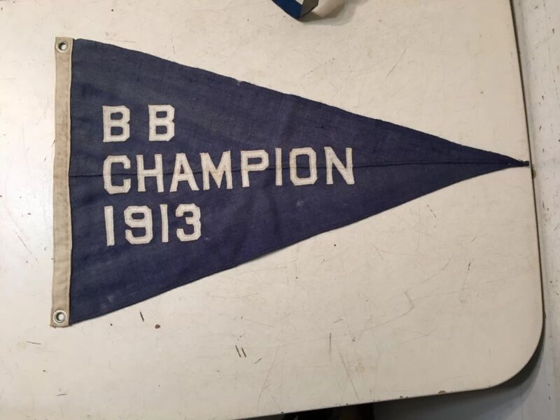 Vintage Sailing Burgee Pennant BB Champion Long Island Estate Yacht Clubs 1913