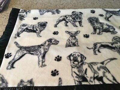 Handmade fleece pet blanket/throw, Bulldogs, Pugs and more!