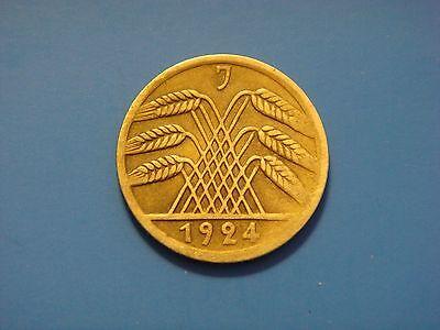 Germany, Weimar Republic 5 Reichspfennig, 1924 J