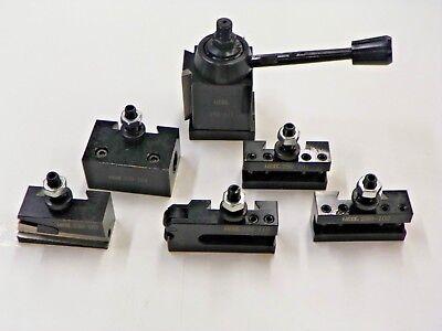 6 Pc Axa Quick Change Wedge Tool Post Set 250-111 Series 6 To 12 Swing Tb20