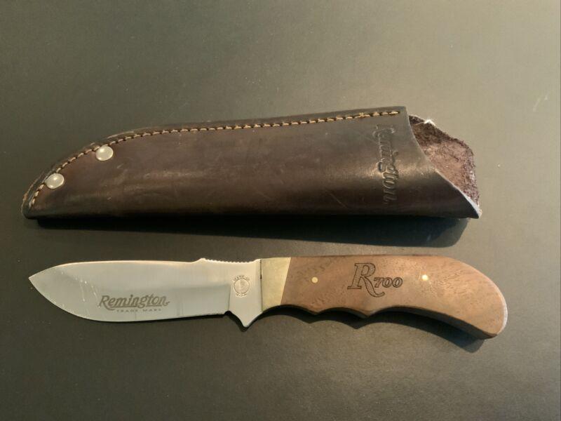Remington RH-21 R700 Fixed Blade Knife With Sheath Very Good