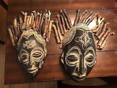 african masks wall decor
