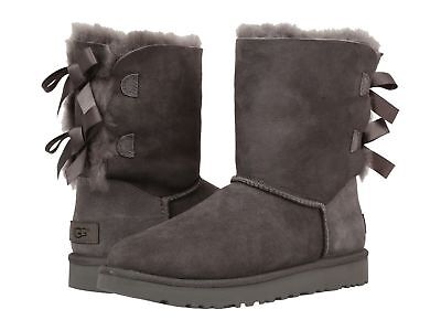 Women's Shoes UGG Bailey Bow II Boots 1016225 Grey Water Resistance 6 7 8 9 10  - Gray Bow Uggs