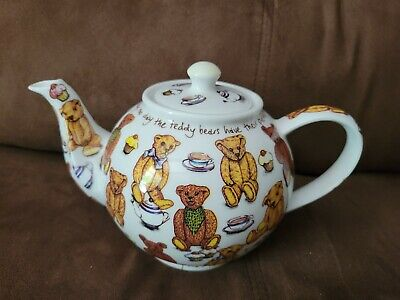 """Large 6 cup Cardew Classic """"Ted-Tea"""" Teddy Bear's Picnic Teapot"""
