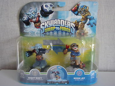 Skylanders SWAP FORCE Night Shift + Boom Jet Pack - Neu & OVP