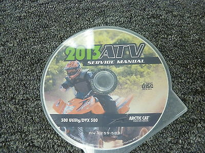 2013 Arctic Cat Models DVX 300 & 300 Utility ATV Shop Service Repair Manual CD