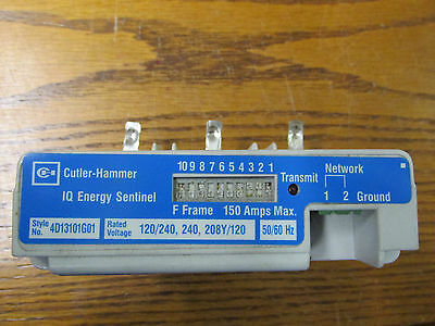 Cutler Hammer Iqesf208 Iq Energy Sentinel 4D13101g01 Missing Wire Block