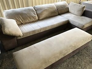 Modern Corner Lounge chaise and ottoman Plumpton Blacktown Area Preview
