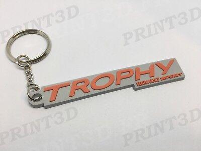 """Porte clés / Keychain / Keyring PVC souple Renault Sport """"TROPHY"""" Rouge logo"""