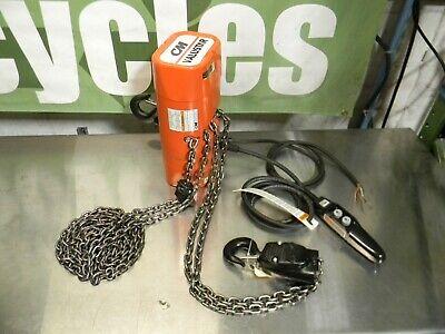Cm 2406 Valustar Electric Chain Hoist 1 Ton Capacity 10 Ft. Lift 440-480v 3 Ph