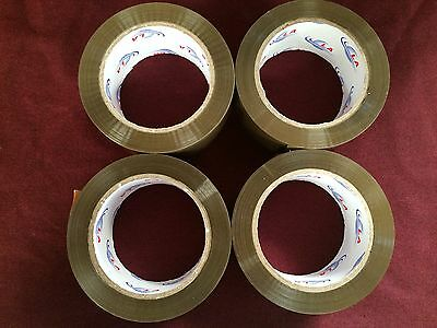 4 Rolls Brown/Tan Packaging Tape - 2