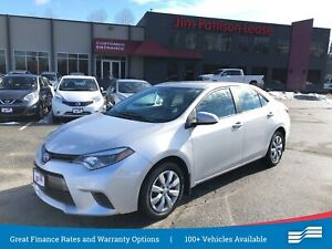 2016 Toyota Corolla LE w/heat seats, rear cam, bluetooth