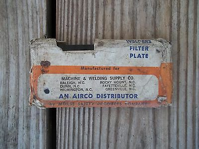 Vintage Welders Filter Plate Welding Shield 9h Morse Safety Products 2 X 4-14