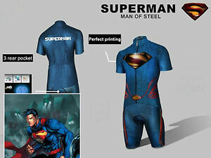 2014-Hot-Superman-Costume-Cycling-Kits-Bicycle-Suit-Short-Jersey-Bib-Short-M-XXL