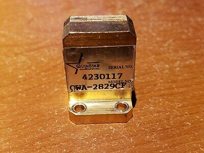 Quinstar Qwa-2829cf 26.5 To 40 Ghz Waveguide To Coax Adapter Gold Plated Case