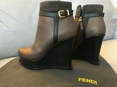 Fendi Fendista Wedge Boots