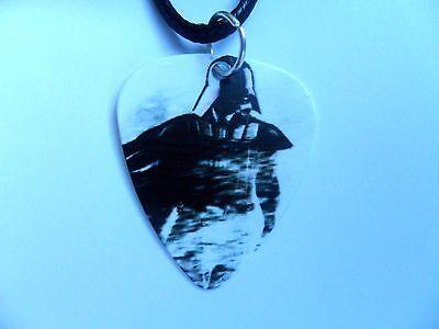 Star Wars DARTH VADER   Guitar Pick  //  Plectrum  Leather Necklace