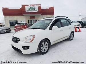 * 2009 KIA RONDO EX V6, WITH 3RD ROW, 6 MONTH WARRANTY INCLUDED