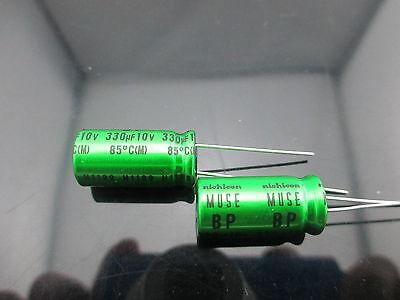 2pcs Japan Nichicon Muse Es Bp 330uf 10v 330mfd Audio Capacitor Caps