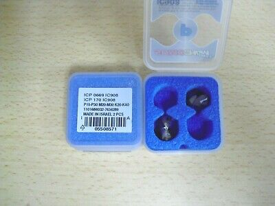ICM 0591 IC908 2 PCS Replaceable carbide inserts drill tip ISCAR ICM 150 IC908