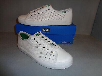 Keds Shoes - Women's Keds Kickstart Kick Start White Leather COOL Shoes Laces Sizes NIB New!!