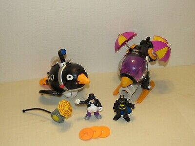 Fisher-Price Imaginext BATMAN PENGUIN Copter Helicopter & Submarine w/ Figures