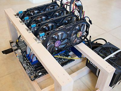 Crypto Coin Open Air Mining Frame Rig Case Up To 6 Gpus Eth Btc Ethereum