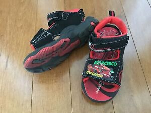 LIGHT UP LIGHTNING MCQUEEN SANDALS VELCRO SIZE 10
