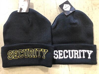Cap Wholesale Beanie (WHOLESALE LOT Security Guard 3D Embroidered Logo Beanie Cap Hat FREE)