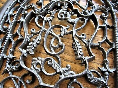 Ornate Cast Iron LETTER C Heating Grate Grill Victorian Tombstone Arch Register