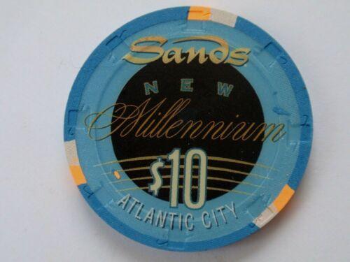 SANDS Casino $10 MILLENNIUM Chip Atlantic City, New Jersey ~ I Combine Shipping