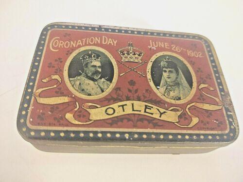 RARE JUNE 26th 1902 ROWNTREE& Co Ltd CORONATION DAY OTLEY CHOCOLATE TIN