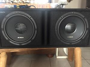 "12"" ported subbbox with subs"