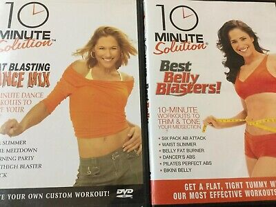 2- 10 Minute Solutions Workout DVDs:Best Belly Blasters & Fat Blasting Dance