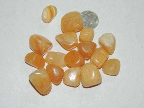 Orange Calcite tumbled stones 1/4 pound  (15561)