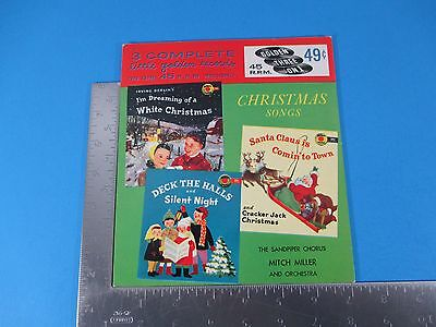 1955 Christmas Songs 45 RPM Record 3 On 1 Irving Berlin Sandpiper Chorus M1207 ()