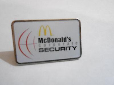 NOS McDonalds Advertising Enamel Pin #59 - CORPORATE SECURITY