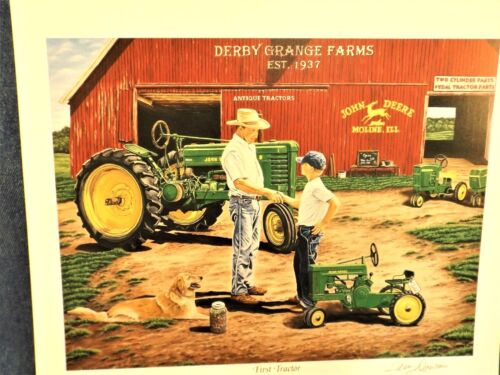 JOHN DEERE PEDAL TRACTOR  ART PRINT - FIRST TRACTOR - TERRY DOWNS - PRINT ONLY