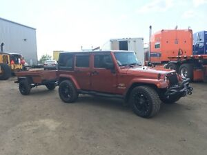 2015 Jeep Wrangler Sahara with trailer