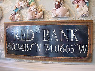 Red Bank  Sign   Custom Wooden Sign   Beach Decor   Coastal Home Decor   Nj