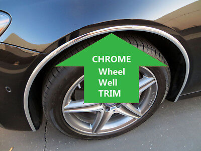 4PCS wheel well fender bumper chrome molding trim - ForTOYOTA2013-2018 (Wheel Molding Trim)