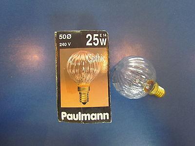 25w Klar Globe (RARITÄT - PAULMANN Gothic Globelampe 240 V E14 25 W G50 Art.Nr:115.21)