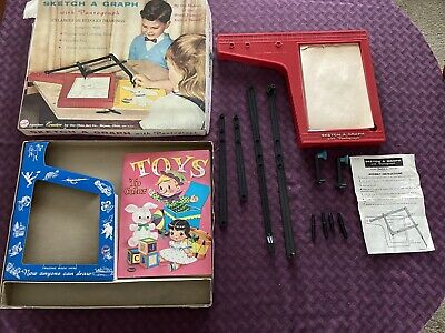 Vintage 1960 Toy Sketch-A-Graph Pantograph Tracing Drawing by Ohio Art Co