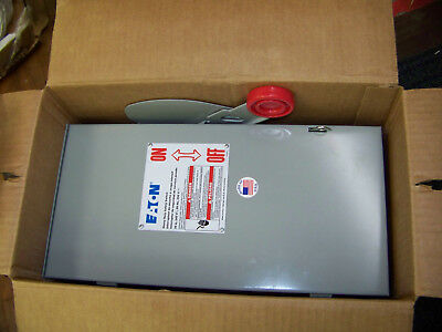 Eaton Heavy Duty Safety Switch 30 Amp 240 V 3 Wire 60 Hz 250 Vdc Dh221nrk New